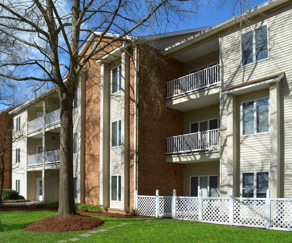 An exterior view of our apartments