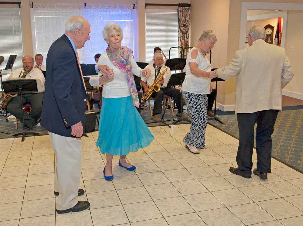Residents enjoy our events including music and dancing