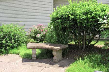 stone-bench-among-plantings