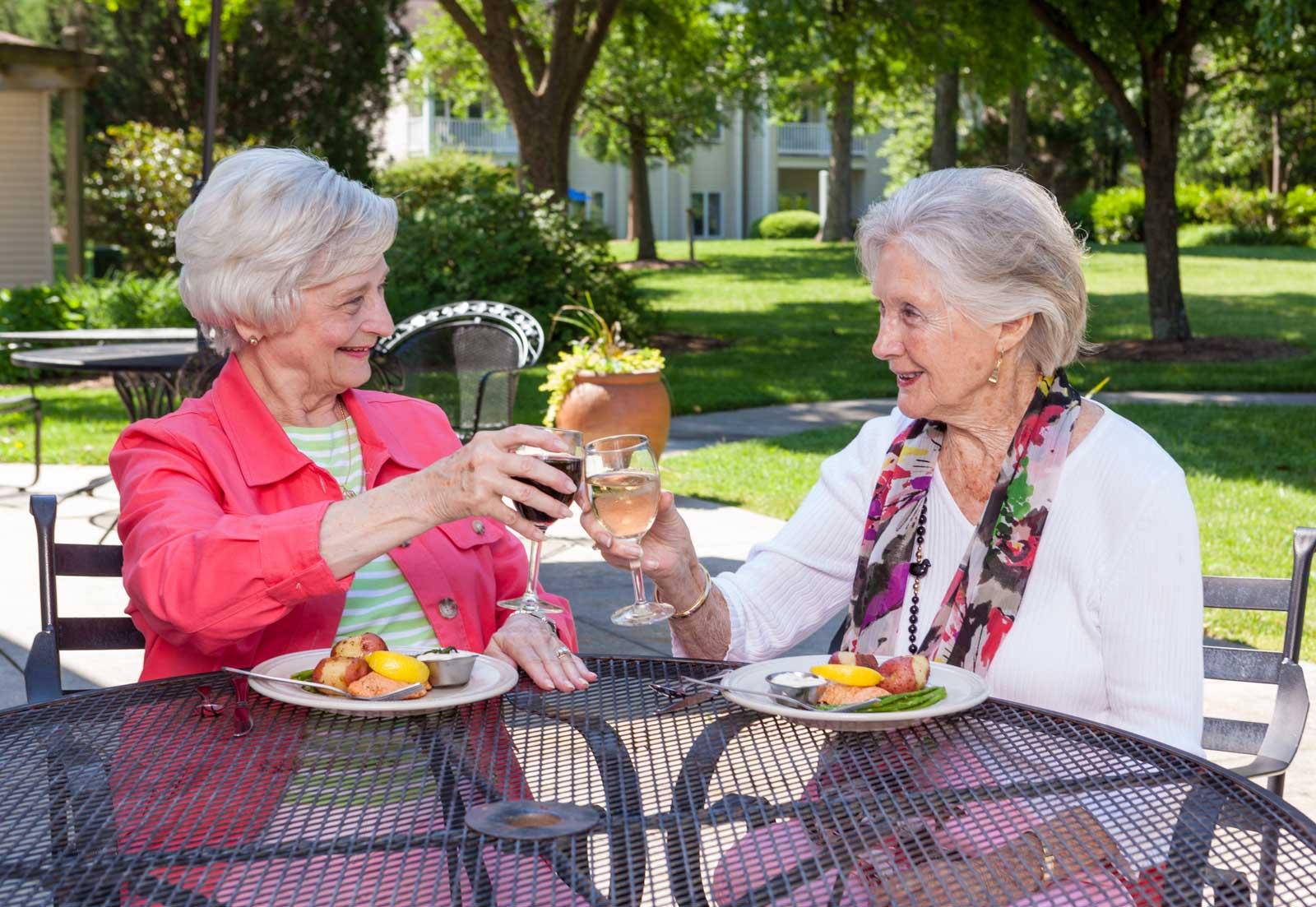 ladies-enjoy-meal