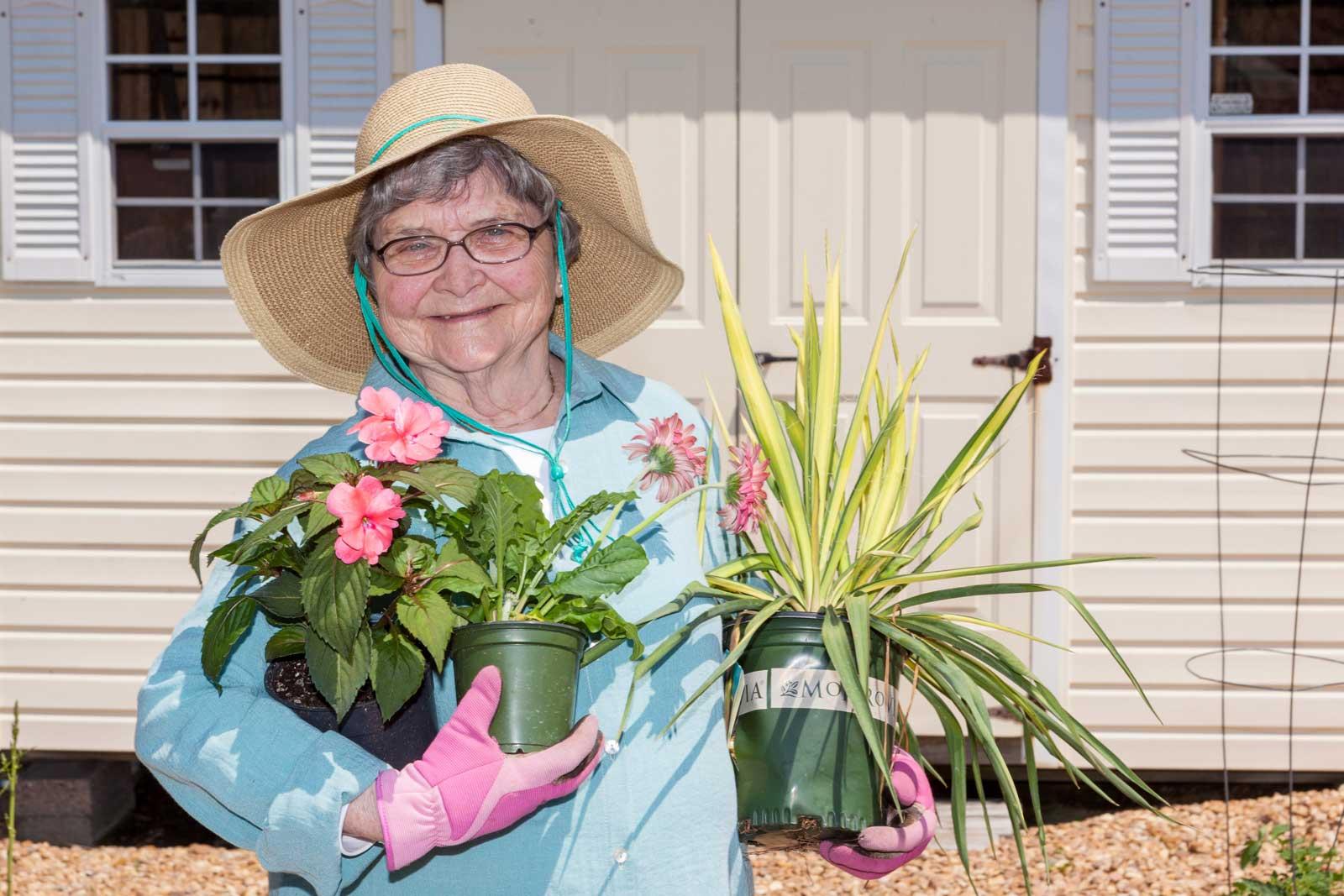 woman-enjoys-gardening