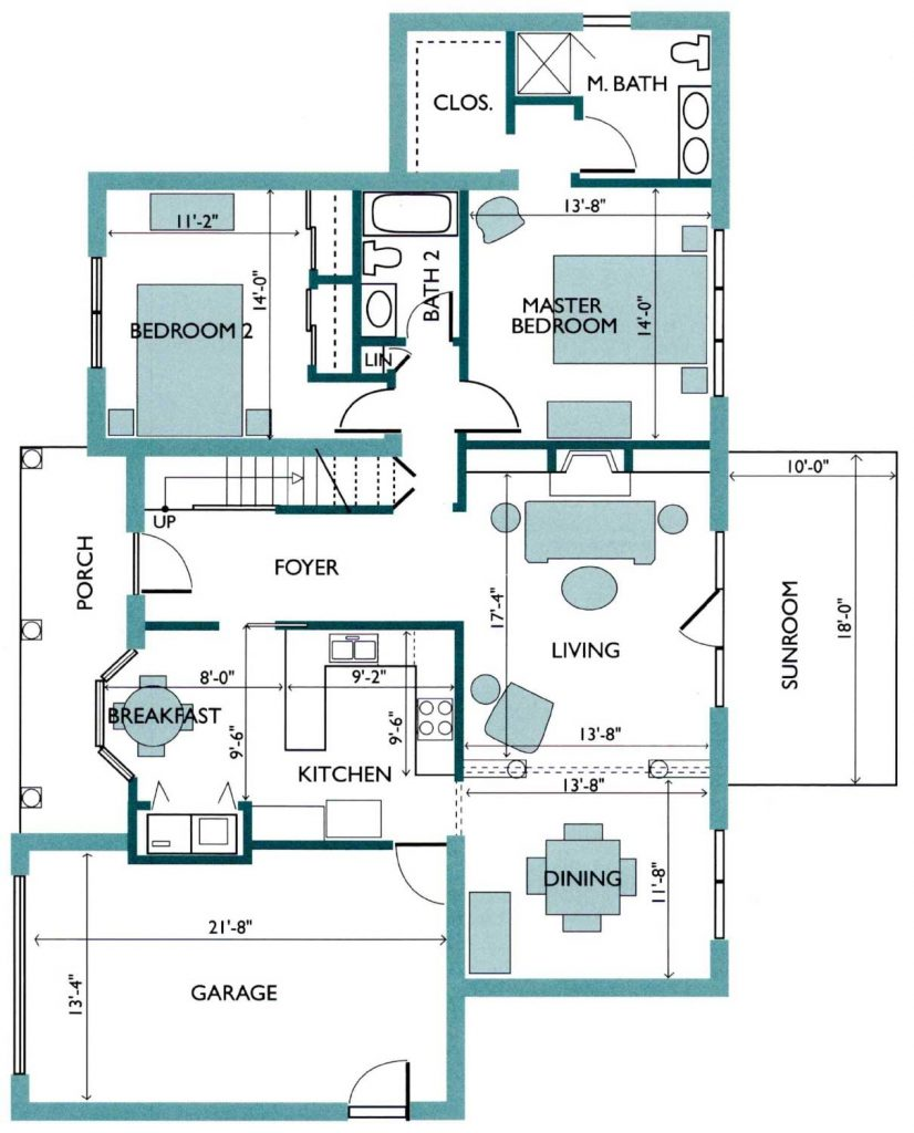 Floor plan of the Azalea Free Standing Cottage