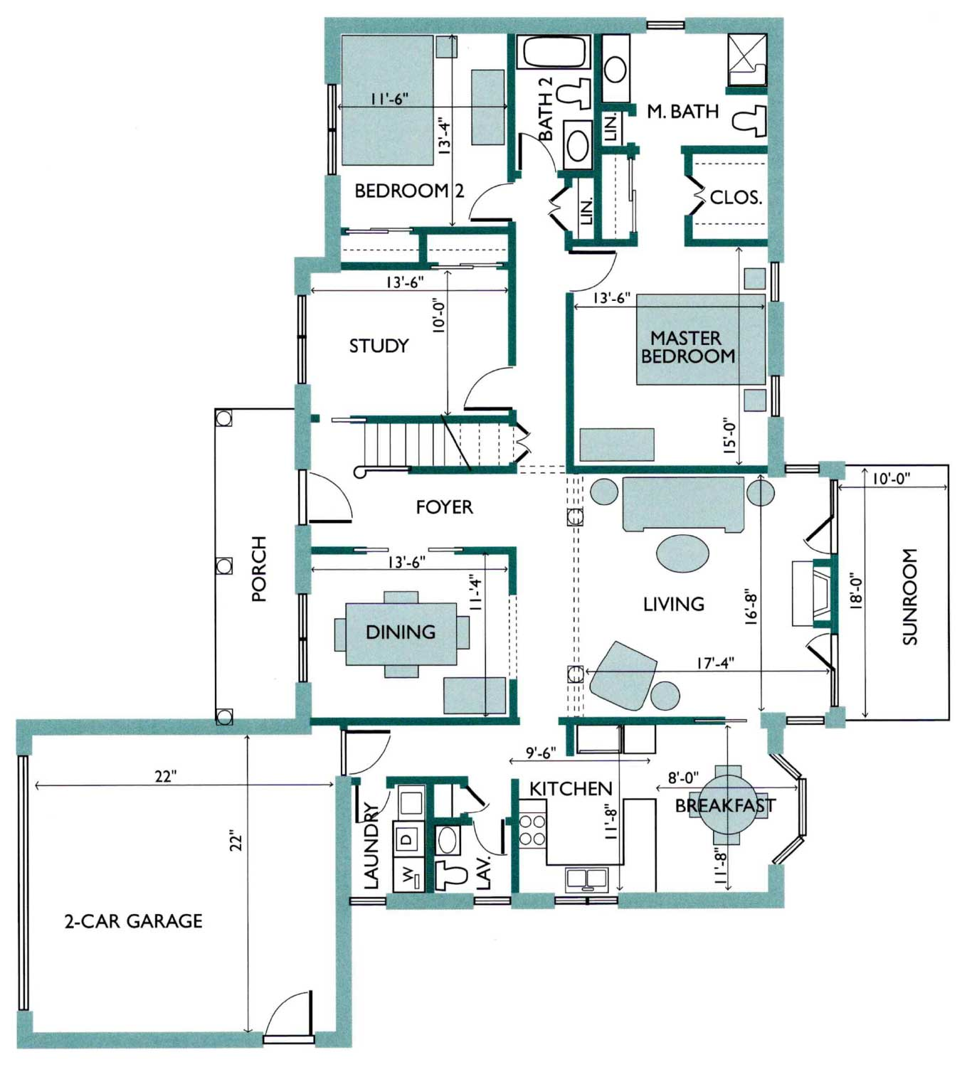 Floor plan of the Boxwood Free Standing Cottage