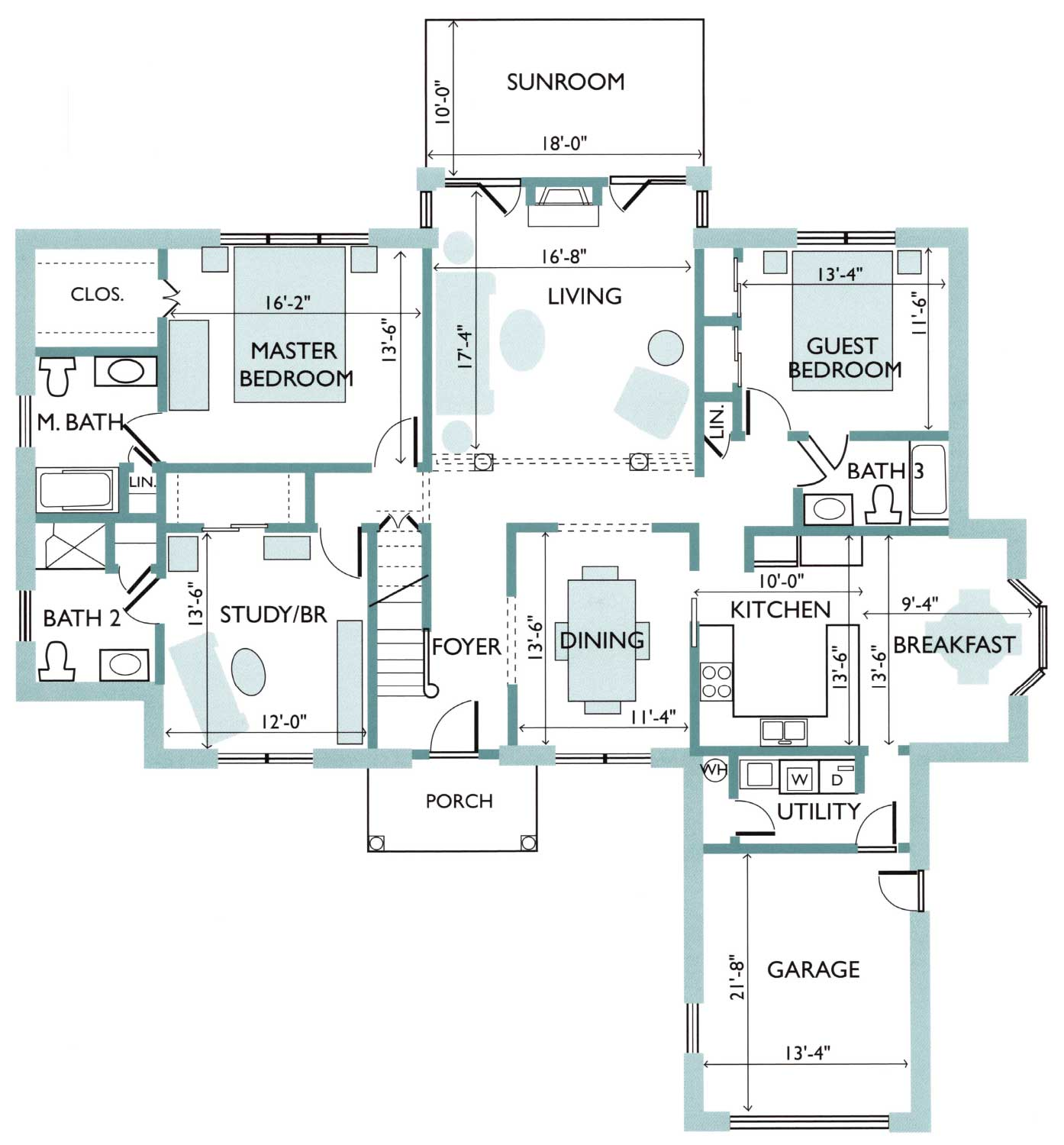 Floor plan of the Camellia Free Standing Cottage