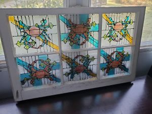 Amy Lewis crab stained glass